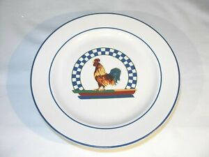 """Set of Four (4) Rooster Salad Plates from Thailand 7 3/4"""" Diameter"""