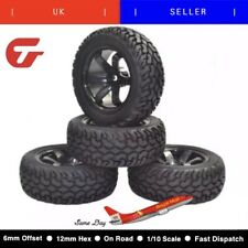 1/10 4pcs High Performance Rc Rally Car Grain Rubber Tyres Tires And Wheels
