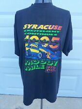 Vtg 1995 Syracuse Moody Mile Dirt Modified Racing New York Black T-Shirt Sz Xl