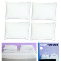 Set Of 4 Pillow Protector Cover Standard Size Pillowcase Soft Fabric Bedding New