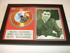 CLIFF RICHARDS    SIGNED  GOLD  DISC  Y