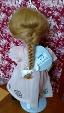 """GLOBAL Doll MOHAIR Wig """"DESIRE"""" Size 6-7' GOLDEN BLONDE - Long French Braid"""