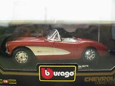"BBURAGO ""DIAMONDS"" 1957 CHEVROLET CORVETTE (BRONZE) 1/18 DIECAST MODEL"