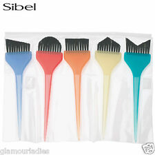 5 X SIBEL Balayage Colour Hair Tint Brush Set Dying/Colouring Salon Brushes