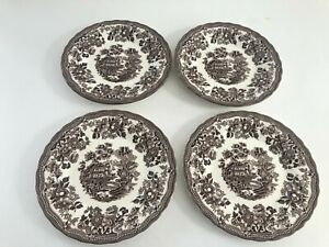 QUEENS by Churchill NEW IN BOX Tonquin Brown Salad Plates- Set of 4