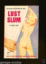 Lust Slum byAndrew ShawMidnight Reader MR-416 1962 Sleaze gga Fiction