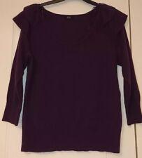 F&F Purple 3/4 Sleeve Jumper Size 14