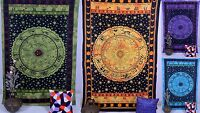 Astrology Horoscope Zodiac Hippie Tapestry Wall Hanging Indian Throw Bedspread