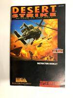 Desert Strike SNES Instruction Manual Super Nintendo Booklet NO GAME OR BOX