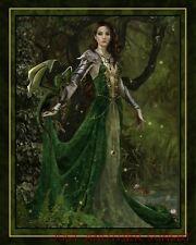 Nene Thomas Astranaithes Dragon Green Gold Warrior Print 8x10