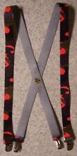 "Suspenders Children & Junior 1""x36"" FULLY Elastic Hunter's Orange Blaze NEW"