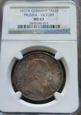 1871-A Germany Taler Prussia Victory NGC MS63 German Silver Coin