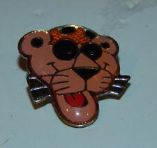 Vintage Original 1980's Pink Panther Head With Sun Glasses Enamel Badge Pin