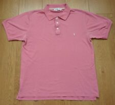 Yves Saint Laurent Ladies Pink Short Sleeve Polo Shirt Top Size Large