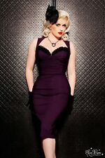 Pinup Couture Medium Masuimi Dress In Plum