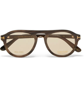 New $940 TOM FORD Private Collection Tom N.3 64E Aviator Real Horn Sunglasses