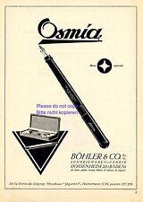 Füller Osmia Reklame Südamerika 1924 Böhler Dossenheim Füllfederhalter Werbung