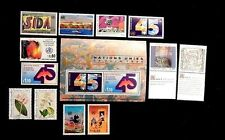 United Nations Geneva complete year 1990 182-194 MNH  12 stamps + Souv sht