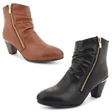 Unbranded Zip Cuban Heel Boots for Women