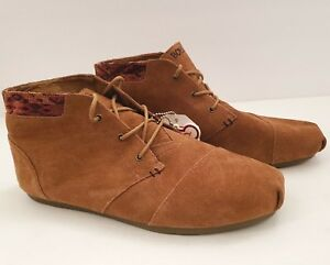 Skechers LUXE BOBS Womens Size 11 34306 Brown Leather Rustic Sole Booties Shoes