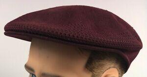 NEW WITH TAGS Kangol Tropic Ventair XL Driving Burgundy Golf Flatcap Hat