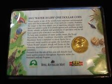 LANDCARE 1993 $1 UNCIRCULATED in RARE BBC CARD of issue Water is life