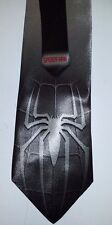 L@@K! Spiderman Silver grey Satin Neck tie - Peter Parker