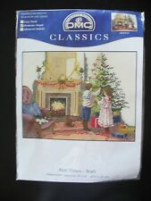 DMC Past Time Noel Cross Stitch Kit K5310 10x8 Children Decorating Xmas Tree