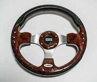 Custom 13 Inch Golf Cart Steering Wheel Wood Grain  EZGO YAMAHA Club Car