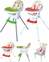 Bebe Style Modern 3in1 Highchair+Junior Chair+Booster Baby Child Feeding Tray