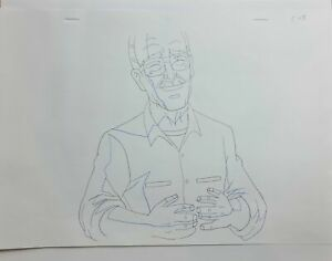 Marvel Ultimate Spiderman Production Animation Cel Drawing: Stan Lee - 1596