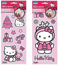 Childrens 2 Packs Christmas Reusable Sticker Set Hello Kitty