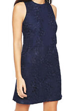 NEW ex Warehouse NAVY Lined Cut Out Floral Lace Dress size 8 10 12 14 16