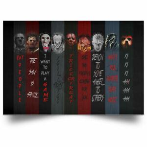 Horror Movie Character Halloween Canvas Poster Art Print Decor Home