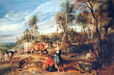 Milkmaids with Cattle in a Landscape by Peter Paul Rubens Art Print