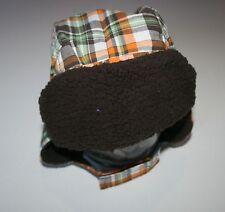 New Gymboree Raccoon Buddies Line Baby Boy Plaid Earflap Hat Size 3-6 m NWT