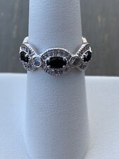 Ring Bomb Party Size 6 Black Onyx And White Topaz Ring