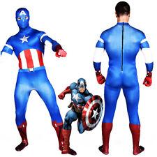 Unisex Captain America Jumpsuit Bodysuit Cosplay Costume