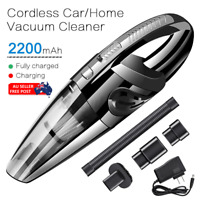Portable Hand Vacuum Cleaner Cordless Wet&Dry Dust Rechargeable Home Ca
