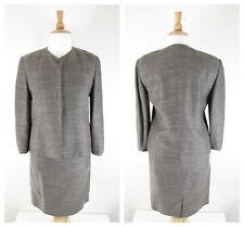 Linda Allard Ellen Tracy Plus Size Gray Linen Blend Skirt Suit Size 14 Career