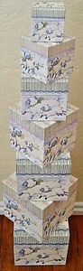 NEW Bob's Boxes (Dancing Lambs) 7 Piece Gift Nesting Boxes