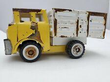 Marx Toy Truck Pressed Steel Brown Tan Pick Up Vintage Flat Bed Yellow Japan