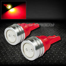PAIR HIGH POWER LED T10 194 168 501 W5W RED INTERIOR DOME WEDGE LIGHT BULB/BULBS
