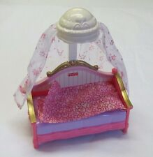 Rare Fisher Price Loving Family Dollhouse GIRLS CANOPY BED for BEDROOM Day Bed