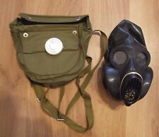 Soviet USSR military paratrooper gas mask PBF EO-19, black rubber, full set, NOS