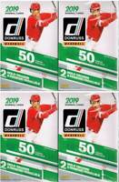 (4) 2019 Donruss Baseball Trading Cards 50c. HANGER Box LOT=Orange&DiamondAwe PC
