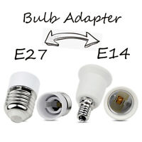 E27 to E14 to ES27 Fitting Bulb Extender Converter Adapter Socket Base