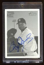 ROGER CLEMENS 2001 BOWMAN HERITAGE AUTO SP AUTOGRAPH ON CARD YANKEES BEAUTIFUL !