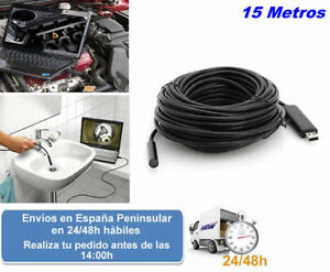 Endoscopio 15 metros camara de inspeccion baroscopio usb (Envio express)