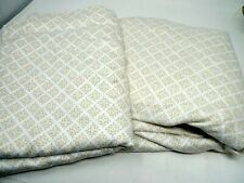 Twin Sheet Set 2 Pc Flat Fitted Home brand Beige Cream 100% Cotton